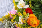 Bouquet of various flowers close-up — Stock Photo