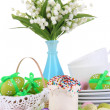 Place setting for Easter close up - Stock fotografie