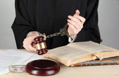Fighting corruption in court — Stock Photo