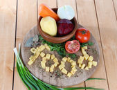 Composition of vegetables on plate — Stock Photo