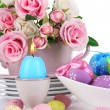 Place setting for Easter close up — Stock fotografie
