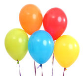 Five bright balloons on light background — Stock Photo