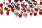 Beautiful gem stones, isolated on white — Stock Photo
