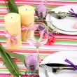 easter table setting — Stock Photo #23972439