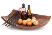 Aromatherapy setting isolated on whit — Stock Photo