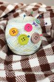 ボタン内のスレッドのボール — ストック写真