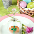 easter table setting — Stock Photo #24014855