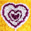 Royalty-Free Stock Photo: Decorative heart from paper on yellow background