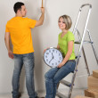 Young couple moving in new house — Stock Photo #24026815