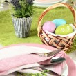 Easter table setting — Stock Photo #24089007