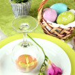 Stock Photo: Easter table setting