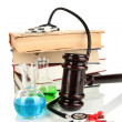 Concept of forensic medicine close up — Stock Photo