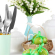 Royalty-Free Stock Photo: Place setting for Easter close up