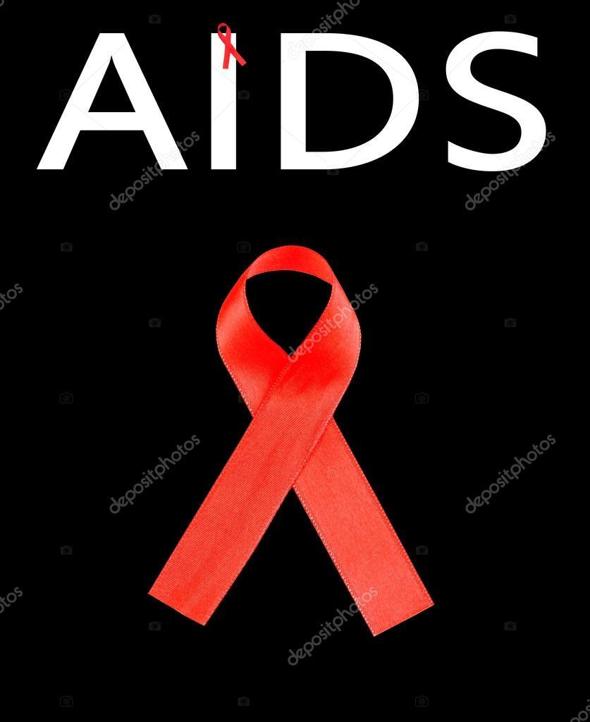 Schwarze Aids Schleife