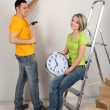 Young couple moving in new house — Stock Photo #24213067