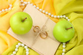 Conceptual photo wedding in apple style — Stock Photo