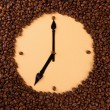 Wall clock of coffee beans, close up — Stock Photo #24273253