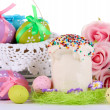 Place setting for Easter close up — Stock Photo #24414237