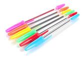 Barevné tužky izolovaných na bílém — Stock fotografie