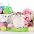 Place setting for Easter close up — Stock Photo