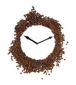 Wall clock of coffee beans — Stock Photo