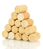 Wine corks isolated on white — Stock Photo