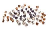 Beautiful gem stones, isolated on white — Fotografia Stock