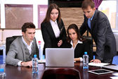 Business people working in conference room — Stock Photo