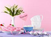 Talheres para beber chá — Fotografia Stock
