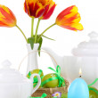 Place setting for Easter close up — 图库照片