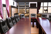 Interior of empty conference room — ストック写真