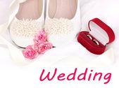 свадебные аксессуары — Стоковое фото
