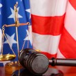 Judge gavel on american flag background — Stock Photo #24598595