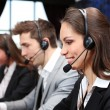 Call center operators at wor — Stock Photo #24647597