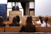 Business man is making a speech at conference room — Stock Photo