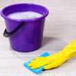 Royalty-Free Stock Photo: Washing the floor and all floor cleaning
