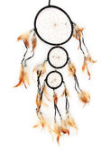 Beautiful dream catcher, isolated on white — Photo