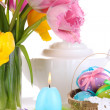 Place setting for Easter close up — Foto de Stock