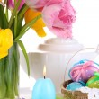 Place setting for Easter close up — Stock fotografie #24771335