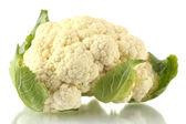 Fresh cauliflower isolated on white — Stock Photo