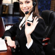 Royalty-Free Stock Photo: Call center operator at wor