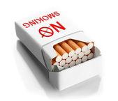 Box of cigarettes, isolated on white — Stock Photo