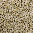 Stock Photo: Green coffee beans, close up
