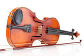 Classical violin isolated on white — Stock Photo