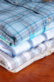 Shirts neatly folded close-up — Stock Photo