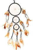 Beautiful dream catcher, isolated on white — Stock Photo