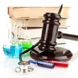 Stock Photo: Concept of forensic medicine close up