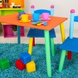 Stock Photo: Small and colorful table and chairs for little kids