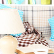 Close up on trendy modern living room — Stok fotoğraf