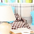 Close up on trendy modern living room — Stockfoto